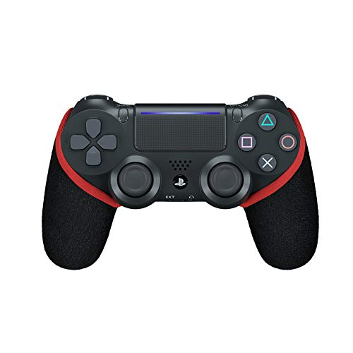 Smartgrip - Funda para Mando de PS4 con tecnología patentada, Color Blanco y Negro Rojo Rojo