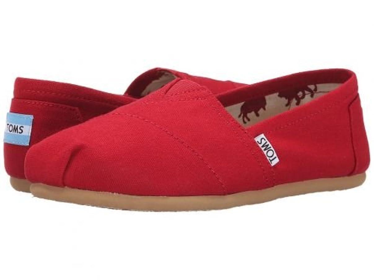 等しいセール収穫TOMS(トムス) レディース 女性用 シューズ 靴 ローファー ボートシューズ Classics - Red Canvas [並行輸入品]