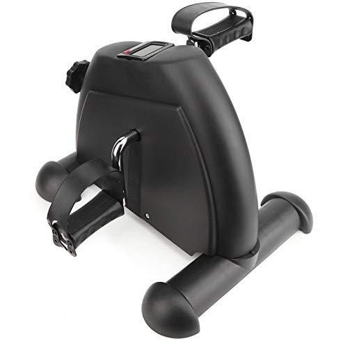 Asixxsix Bicicleta de Fitness, Bicicleta estática, rehabilitación Mini Pantalla Digital Miembros Superiores Inferiores para Pacientes Ancianos