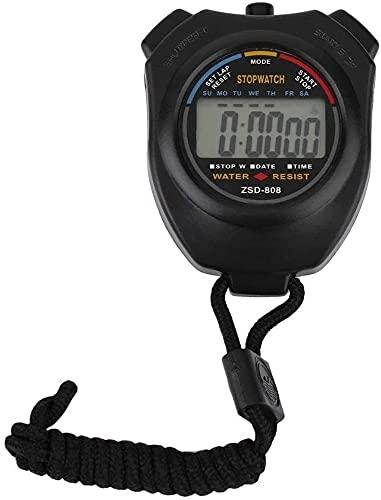 Cronómetro de Entrenamiento Deportivo Multifuncional de cronómetro electrónico en el cronómetro de Cuello Deportivo Deportes Temporizador