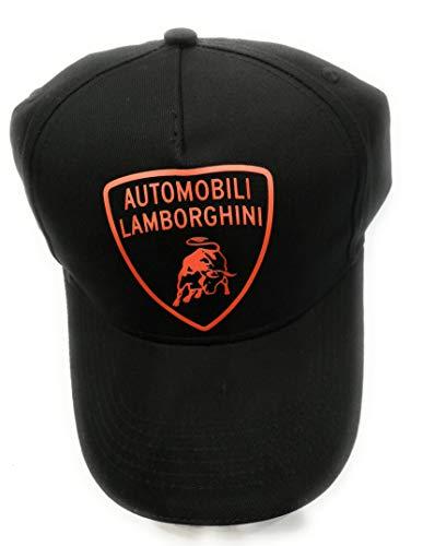 Lamborghini - Gorro con logotipo naranja fluorescente