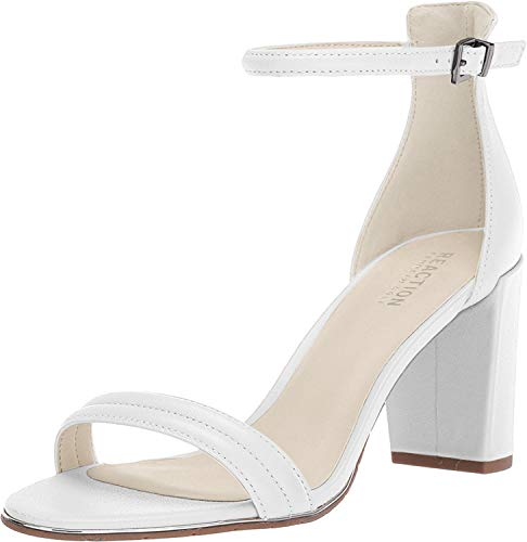 Kenneth Cole REACTION Women's Lolita Strappy Heeled Sandal, White, 8.5 M US