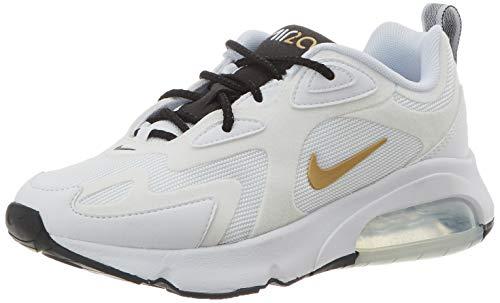 Nike Damen W AIR MAX 200 Traillaufschuhe, Mehrfarbig (White/Metallic Gold-Black 102), 37.5 EU