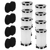 IUCVOXCVB Accesorios de aspiradora 8 Sets Reemplazo de Filtro HEPA FIT Fay para MOOSOO D600 D601 Piezas de Recambio de aspiradora con Cable (Color : Black White)