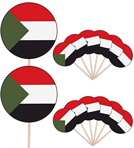 Sudan Vlag Party Food Cake Cupcakes Picks Sticks Vlaggen Opstaan Decoraties Toppers (Pak van 14)