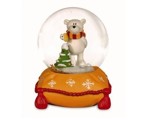 NICI 27664–Ball mit Snow Polar Bear Grün klein