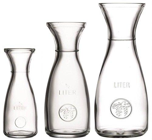 Glas Karaffe mit Eichring Größe 0,25L