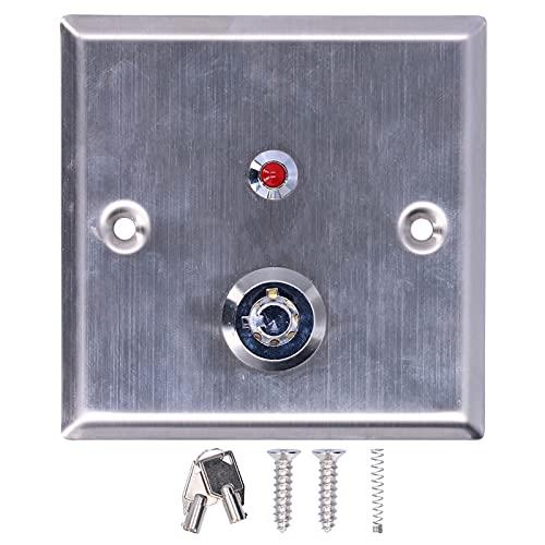Sistema de entrada de puerta, interruptor de salida Luz indicadora de un solo color Material de acero inoxidable Fuente de alimentación de 12VCC para la mayoría de las situaciones de