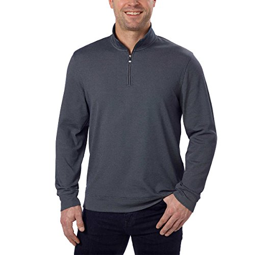 Calvin Klein Men's Quarter Zip Pullover Atlantis XX-Large