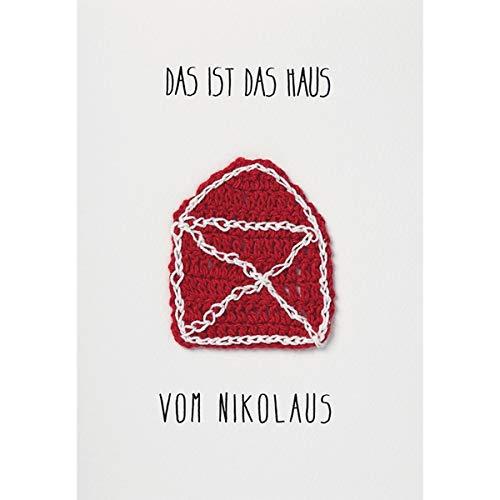 """Weihnachts Strickkarte""""Das ist das Haus vom Nikolaus"""""""