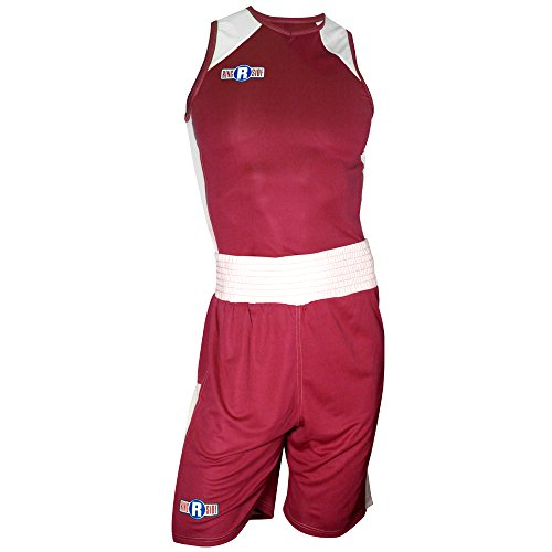 Ringside #7 Elite Outfit, Red/White, Youth Small