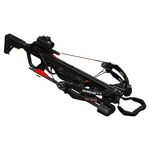 Barnett Explorer XP 370 Crossbow| Compound Crossbow with Red Dot Scope, Arrows & Quiver, Black
