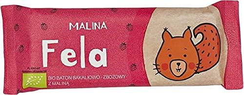 BATON BAKALIOWO-ZBOŻOWY Z MALINĄ BIO 37 g - HELPA