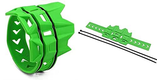 Subfectador de Escape Tubería de Tubo Protector Protector para Beta RR 2T RR RS 4T para Gas Gas CE 2T 4T XC250 300 FSE FSR XC250 XC300 (Color : Green)