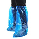 UNEEI 50 Pack Disposable Shoe Covers Boot 25 Pairs Waterproof Hygienic Foot Cover Shoes Protector for Rain