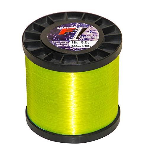 Ultima Herren F1 Hochleistungsschnur-115gr Spule, Gelb, 0.35mm-18.0lb/8.2kg