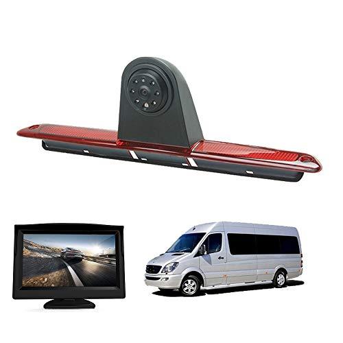 "HD 720p Rückfahrkamera Transporter Kamera an 3. Bremsleuchte Kamera Dachkante Einparkhilfe für Transporter MB Mercedes Sprinter W906 VW Crafter +4.3\"" Zoll DVD Monitor Bildschirm LKW LCD Display"