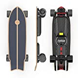 Teamgee H20mini Electric Skateboard with Remote Control Hub Motors 900W Range 18 Miles 26mph Top Speed 4 Speed Adjustment Load up to 286 Lbs 7 Ply Maple Longboard