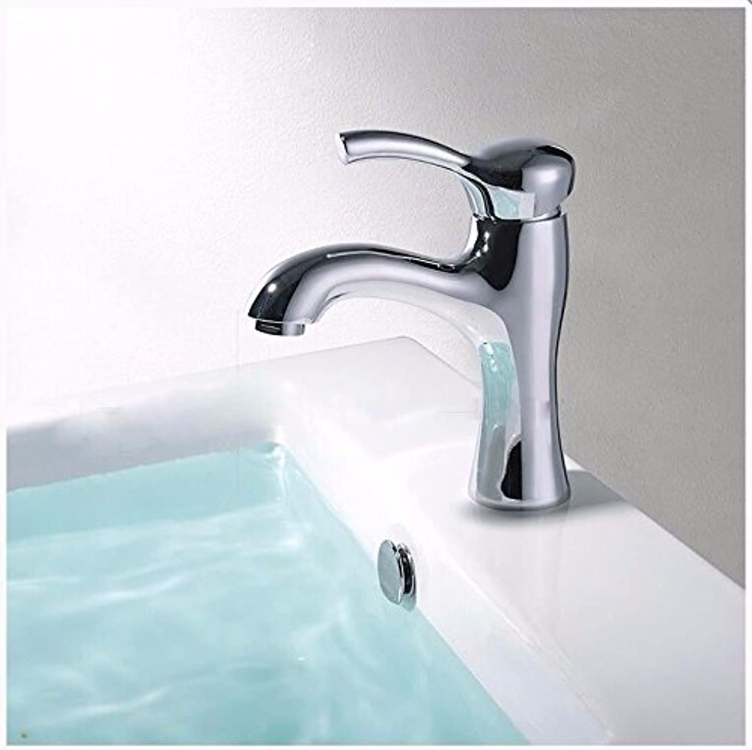 Hlluya Professional Sink Mixer Tap Kitchen Faucet The copper basin of hot and cold single hole faucets single hole Washbasin Faucet mixer