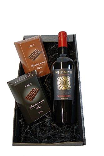 Geschenkset Rotwein mit Schokolade