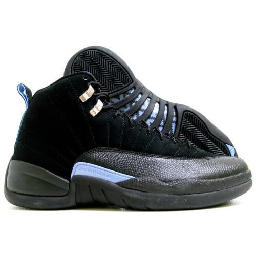 super popular 46491 b17ca Amazon.com   Jordan Nike Air 12 Retro XII Black Blue Mens Basketball Shoes  130690-018   Basketball