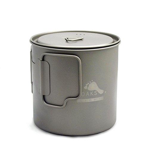 TOAKS Titanium Camping Pot Cup(375ml, 450ml, 550ml, 650ml, 750ml, 800ml, 900ml) (650ml[POT-650-L])