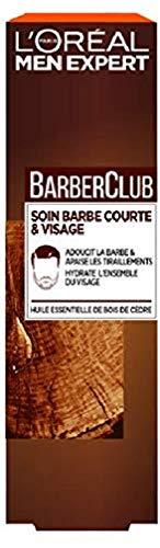 L'Oréal Men Expert - BarberClub - Soin Barbe Courte et Visage Homme - À L'Huile Essentielle de Bois de Cèdre - 50 ml