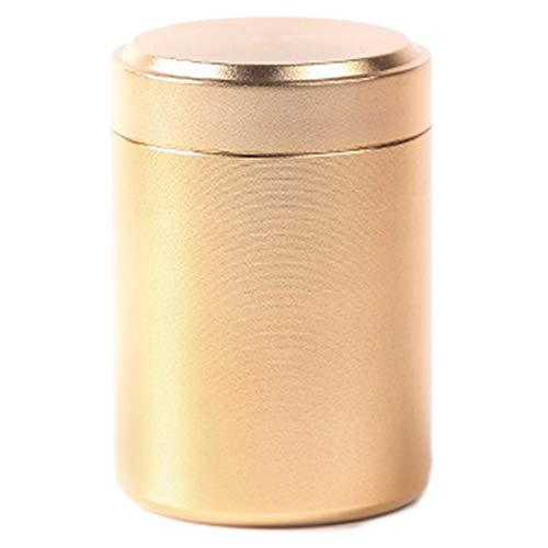 zhongjiany 80 ml Tee, Kaffee und Zucker Vorratsdose Aluminium Mini Vorratsdose f¨¹r Reisen Outdoor Tragbar Gold