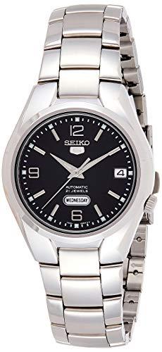 Seiko Herren Analog Automatik Uhr mit Edelstahl Armband SNK623K1