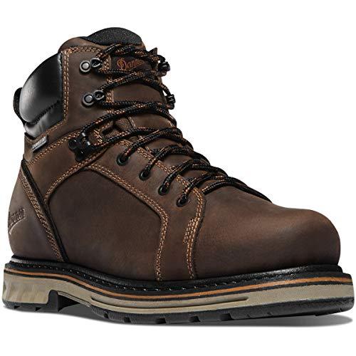 """Danner Men's Steel Yard 6"""" Construction Boot, Brown, 9.5 D US"""
