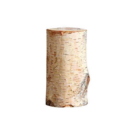 Akkem Holz Kerzenhalter, natürliche Birke Holzstamm Kerzenhalter Handgemachte Kerzenhalter Kerzenhalter Log Flowerpot Ornament Dekor für Zuhause