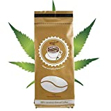Hemp Coffee 100% Colombian Coffee Blend With 100% Natural Hemp (THC Free). Ground Coffee, Artizan Coffee Roasters, DARK ROAST (HEMP Coffee, 2 LB)