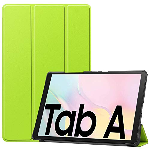 iCatchy For Samsung Galaxy Tab A7 Case, Ultra Thin with Stand Function Slim Leather Smart Protective Cover compatible with Samsung Galaxy Tab A7 (10.4'') 2020 Tablet Case (Lime)