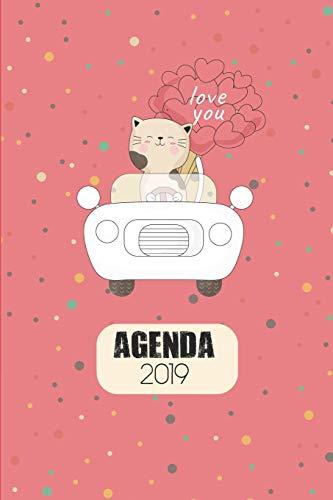 Agenda 2019: Agenda Mensual Y Semanal + Organizador I Cubierta Con Tema de Gatos Enero 2019 a Diciembre 2019 6 X 9in