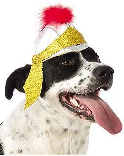 FidgetKute Roman Soldier Gladiator Warrior Pet Dog Cat Costume Helmet Hat Show One Size