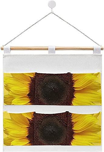Organizador de 6 bolsillos de almacenamiento para dormitorio y baño gigante amarillo Suower, bolsa de almacenamiento para colgar en la pared