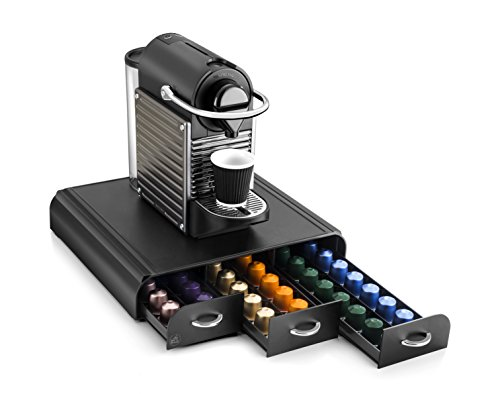 CEP 2230060011 Soporte de la máquina del Organizador cápsula del café con el cajón 3, Negro