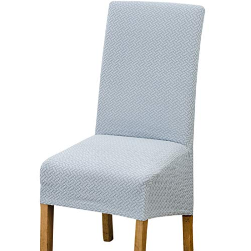 AllRing 1 Stück Elastic Spandex XL Chair Covers for Dining Room Chairs,Jacquard Chair Slipcovers Stretch Removable Washable Short Dining Chair Protecter for Kitchen Bar Hotel and Wedding (Stil 5)