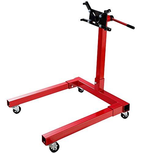 Arebos Motorständer/Getriebehalter/Bis 570 kg Belastbar / 360° Drehbare Aufnahmeplatte/Robuste Bauweise/Rot