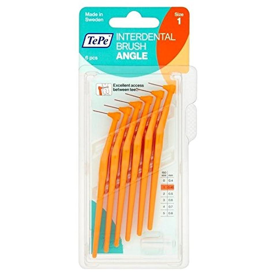 兵隊広々としたディレイテペ角パックあたりオレンジ0.45ミリメートル6 x2 - TePe Angle Orange 0.45mm 6 per pack (Pack of 2) [並行輸入品]