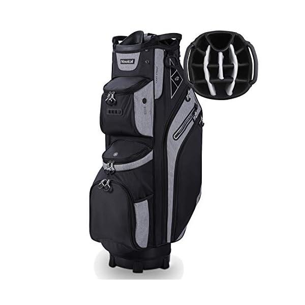 14 Way Golf Cart Bag for Push Bag Classy Design Full Length with Cooler, Rain Hood,...