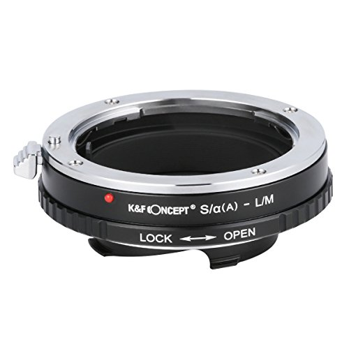 K&F Concept Adaptador S/α(A)-L/M Objetivo Anillo Adaptador para Objetivo Sony A-Mount Minolta Konica a Camara Leica M Series/Leica CL/Minolta