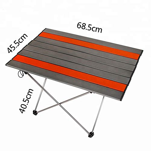 PA® Aluminium Falttisch Campingtisch klappbar Gartentisch Klapptisch Camping Tisch Aluminium ideal Reisetisch Falttisch für Camping Garten Picknick & Grillen.Orange,L