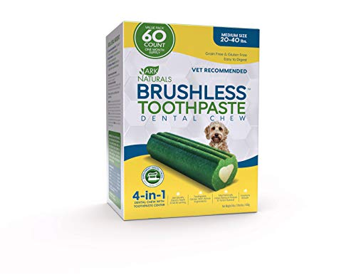 ARK NATURALS Brushless Toothpaste, Vet Recommended Natural Dental Chews for Dogs, Plaque, Tartar and...