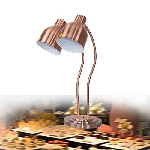 FGHFD Buffet Lámpara Calentadora Infrarroja, 250WComercial Calentadores de Comida Buffet Cocina Resistencia a Altas Remperaturas,Mantiene Calientes Los Platos Cubetas