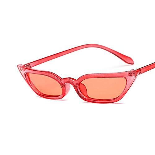 Sunglasses Gafas de Sol de Moda Gafas De Sol De Ojo De Gato Pequeñas Tint Candy Gafas De Sol Coloridas para Mujer Moda U