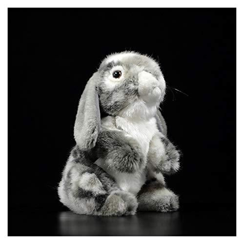 Jfsmgs Juguetes de Peluche 19cm Lindo Lop Orejas de Conejo muñecas simulación Encantador Bunny Bunny Kawaii Animal Suave Peluche Juguete niños niños Regalo (Color : Grey, Height : 19cm)