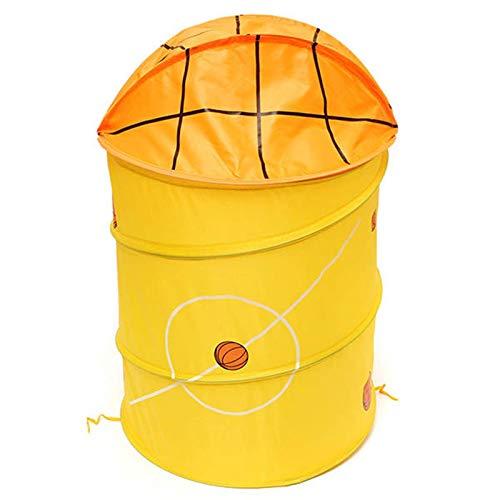 Heqianqian Cesto plegable para la colada, cesta de almacenamiento de ropa, cesta de baño, cesta para la colada (tamaño: como se muestra; color: amarillo)
