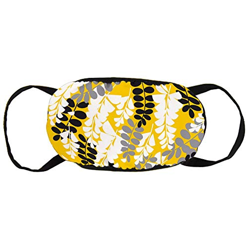 Simple Yellow Acacia Flower Cotton Gezichtsmasker Mouth met design Fashion Anti Dusk Face Maks Earloops Herbruikbaar Mouth Muffle Mask