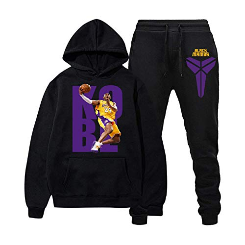 Basketball Hoodies and Long Pants Sweatshirts Casual Sport Suit Tracksuit for Men Women S